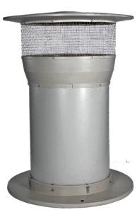 Produktbild IS luftintag från Munters. Med Stjärndiffuser monterad (ej synlig)