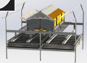 bilden visar ett COMBO ONE TIER system från landmeco