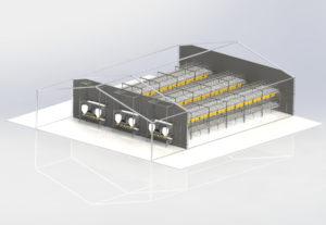 Komplett Hönsstall etagesystem EXTRA från Landmeco
